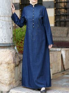 Denim Asilah Dress | The perfect long-sleeved Denim Dress. From SHUKR Clothing