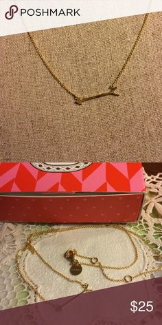 """Stella & Dot gold filled arrow necklace This sweet, delicate necklace has never been worn- it is adjustable from 15"""" to 18"""" Stella & Dot Jewelry Necklaces"""