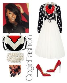 """""""Communion Sunday!!!"""" by cogic-fashion ❤ liked on Polyvore featuring Alberta Ferretti, Chanel, Christian Louboutin and Nordstrom"""