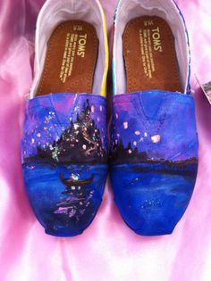 CUSTOM Disney Princess shoes by DJadeG on Etsy