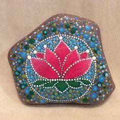 Mandala Lotus..pretty dot painted lotus!