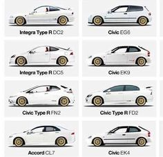 Type of Civic Honda Civic Coupe, Honda Civic Hatchback, Honda Civic Si, Muscle Cars, Acura Rsx Type S, Honda Vtec, Corolla Hatchback, Car Facts, Honda Cars