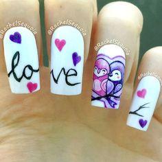 25 Cute Owl Nail Art Designs and Ideas Owl Nail Art, Owl Nails, Minion Nails, Fabulous Nails, Gorgeous Nails, Simple Nail Designs, Nail Art Designs, Valentine Nail Art, Pretty Nail Art