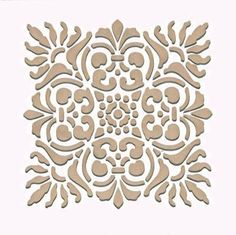 Create a fabric design or a kitchen backsplash with our Sicilia Tile Craft Stencil. Stencil this pattern as a single wall art motif, create a faux tile effect,