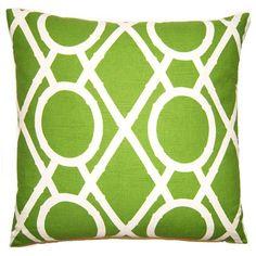 Pillows - Geometric Lattice Pillow - Bright Green
