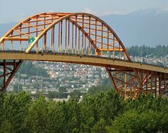 Surrey, BC, Canada...the old Port Mann Bridge between Surrey and Coquitlam opened 1964.... was demolished and replaced with a new bridge