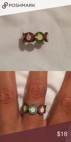"""Coach Ring Authentic Coach """"C"""" Ring. A bit worn out from the silver inside but still I'm good conditions from outside Coach Jewelry Rings"""
