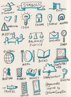 Tracey Levasseur ( - Visual Thinking - Embedded image permalink - Doodle Sketch, Doodle Drawings, Doodle Icon, Doodle Art, Visual Note Taking, Note Doodles, Sketch Notes, School Notes, Study Notes
