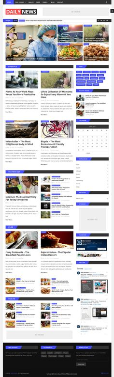 Daily News is a clean, minimal, and modern, #WordPress Theme for any kind of news portal, magazine, #newspaper, travel, technology #website.