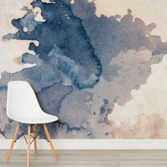 For that grunge look try our cool Ink Blot Watercolour Paint Wallpaper Mural, a unique ink wallpaper that will add a creative aspect to your space. Watercolor Wallpaper, Watercolor Walls, Painting Wallpaper, Watercolor Texture, Watercolor Design, Wall Wallpaper, World Map Mural, Blue Wallpapers, Home And Deco