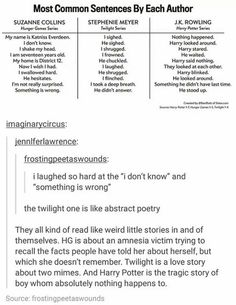 Harry Potter And The Philosopher's Stone Books hunger games twilight Harry Potter My Tumblr, Tumblr Funny, Funny Memes, Hilarious, Writing Tips, Writing Prompts, Book Fandoms, Book Nerd, Hunger Games