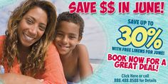 Check out our special for June!  What are you waiting for?  Time to start planning your vacation getaway!   Call today!  #BeachVacation #Beach #MyrtleBeach #NorthMyrtleBeach