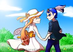 OTP Challenge - Day 1 - Together in the Fields by SaccharoKirby on DeviantArt