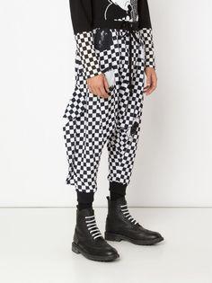 Men's new arrivals from HLorenzo's menswear collections. Clown Pants, Clown Suit, Harem Pants, Trousers, Clown Makeup, Cotton Pants, Menswear, Suits, Check