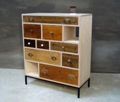 I love this eclectic dresser…I'll have my dad help me make me one when I get a house