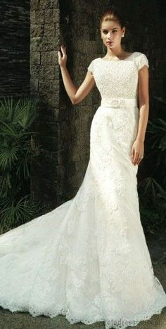 All the hottest trends are reflected in stunning Intuzuri bridal collection. Featuring of gowns in a variety of silhouettes — from elegant mermaids Wedding Dress 2013, Modest Wedding Gowns, Cute Wedding Dress, Wedding Attire, Bridal Dresses, Bridesmaid Dresses, Lace Wedding, Bridal Collection, Dress Collection