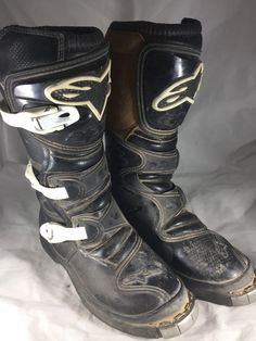 Good used condition - size Dirt Bike Boots, Mx Boots, Motorcycle Dirt Bike, Motocross Outfits, Helmets, Ebay, Shoes, Black, Women