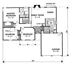 Country Style House Plans - 1197 Square Foot Home, 1 Story, 3 Bedroom and 2 3 Bath, 2 Garage Stalls by Monster House Plans - Plan House Plans And More, Luxury House Plans, Best House Plans, Dream House Plans, House Floor Plans, House Plans 3 Bedroom, Ranch House Plans, Southern House Plans, Country Style House Plans