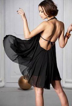 Sexy Women New Backless Jewel Black Chiffon Halter Mini Clubwear Dresses S Dresses For Less, Casual Dresses For Women, Pretty Dresses, Mini Dresses, 28 Mai, Clubwear Dresses, Halter Mini Dress, Daisy Dress, Dress First