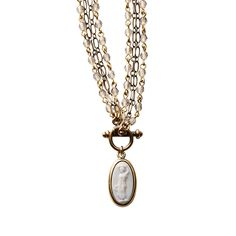 Intaglio Greek Harvest Pendant Necklace