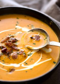 Carrot Soup is amazing - and so quick and easy! Made even more amazing by using bacon as the flavour base. A fantastic way to cook with the humble carrot!