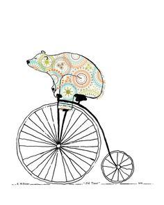 骑自行车的熊