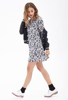Floral Button-Down Dress | FOREVER 21 - 2000058362: love this outfit