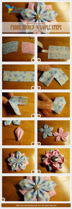 how to make fabric brooch in simple steps