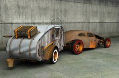 The cool way to camp! WHO let the rats out?? I think you would be much more comfortable in the rat drop than the rat rod! ...FW