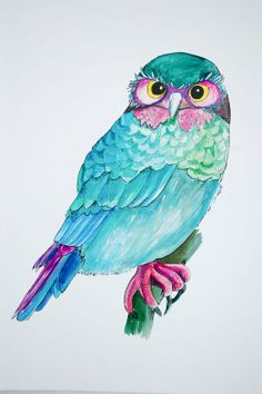 Owl  Archival Print  Original Watercolour and by HurlinghamRoad, $20.00 Gorgeous for a nursery.