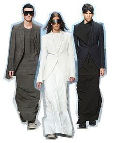 Men In Skirts - RICK OWENS androgynous look - (Article  & more img)