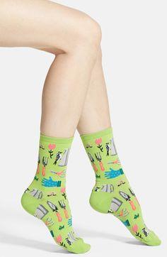 Women's Hot Sox 'Garden Tools' Crew Socks but HOT WHEELS @alloywheels
