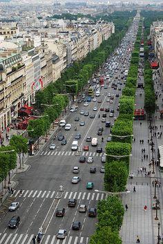 Champs-Élysées from Arc de Triomphe - Paris, France Paris Travel, France Travel, Places To Travel, Places To See, Beau Site, Beautiful Paris, Triomphe, Belle Villa, Paris City