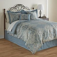 Essential Home Aurora 7-Piece Comforter Set - Filigree - Bed & Bath - Decorative Bedding - Comforters & Sets