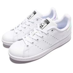 d5d9e5e8d0d (eBay Sponsored) adidas Originals Stan Smith J White Iridescent Hologram  Kid Junior Shoes AQ6272
