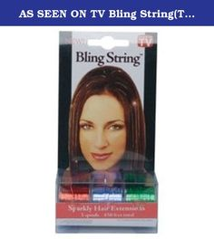 AS SEEN ON TV Bling String(TM) Sparkly Hair Extensions - Red/Green/Purple BLINGSTRINGB. AS SEEN ON TV Bling String(TM) Sparkly Hair Extensions - Red/Green/Purple BLINGSTRINGB.