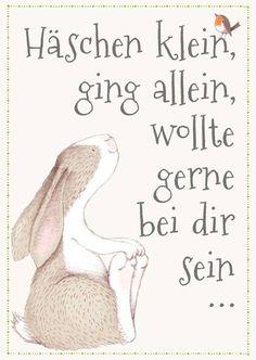 Haeschen Klein Grusskarte Ostern