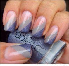 French-Tip-Nail-Art-French-Manicure-Nail-Art-Diagonal-French-Nail-Tips.jpg (620×601)