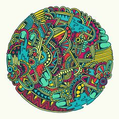 Crazy Colorful Intricate Sketches by Sophie Roach | Minimo Graph