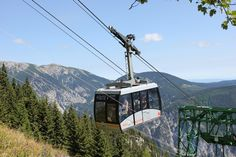 Raxseilbahn - The first aerial cableway in Austria makes 2000-meter high summits in Lower Austria readily accessible to  hikers and nature lovers for outings. The modern gondola cableway covers the 1017 meter vertical drop  in about eight minutes, transporting you quickly to the huge 34 square kilometer Rax Plateau at an  elevation 1545 meters above sea level. The Rax is ideal for hiking, relaxing or simply taking in the  panoramic scenery of Lower Austria from on high. Visit Austria, Sea Level, Central Europe, Great Artists, Wilderness, Places Ive Been, Scenery, Vacation, World