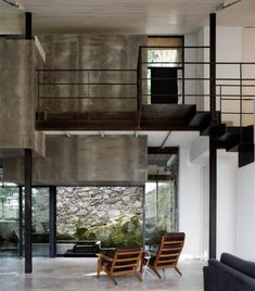 Home Interior Design mmm industrial concrete and steel juxtaposed with wood masonry and mossy greens.Home Interior Design mmm industrial concrete and steel juxtaposed with wood masonry and mossy greens. Contemporary Architecture, Interior Architecture, Interior And Exterior, Home And Living, Home And Family, Modern Country, Cheap Home Decor, Home Remodeling, Beautiful Homes