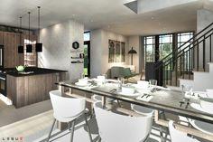 Plan de Maison Moderne Ë_140 | Leguë Architecture Plane, Small Modern Home, Best Investments, Architect Design, Home Remodeling, House Plans, House Design, Architecture, How To Plan