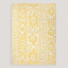 I want it so bad! One of my favorite discoveries at WorldMarket.com: Yellow Lucine Flat-Woven Wool Rug