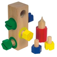 Great for students with moderate to severe disabilities. Screw Block at S&S Worldwide
