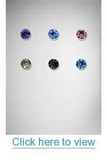 20 Gauge Blue Aqua Gem Nose Stud 6 Pk #Gauge #Blue #Aqua #Gem #Nose #Stud #Pk