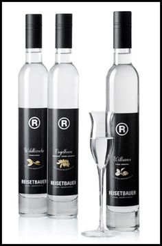 Hans Reisetbauer Distillery ― Makes super premium fruit brandies that are unadulterated, pure and so bursting with natural fruit that they are a delight to nose and taste. The fruit, ranges from Williams Pears, Apples, Plums, and Apricots to Raspberries and Blackcurrants. The powerful fresh fruit aromas of ideally ripened fruit are preserved by mashing and fermenting immediately after harvesting and undergoing double distillation.   #Vienna #Austria #Edelbrand #Reisetbauer