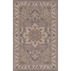 Jaipur Rugs Classic Oriental Pattern Gray/Ivory Wool Area Rug PM131 (Rectangle)