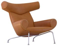 Wegner Ox Chair, Cognac Leather modern-armchairs-and-accent-chairs