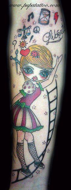 Tatuaje Muñeca Pupa Tattoo Granada
