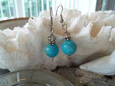 Turquoise earrings Handmade Earrings Gemstone by YouniquelyElegant, $15.95
